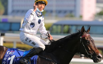 Vincent Ho celebrates Golden Sixty's Hong Kong Gold Cup win earlier this season. Photos: Kenneth Chan