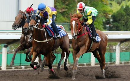 Joao Moreira guides Blaze Warrior to victory in a barrier trial last month. Photos: Kenneth Chan