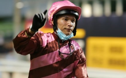 Victor Wong celebrates the win of Shanghai Power. Photos: Kenneth Chan