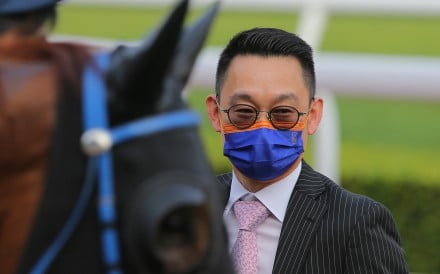 Trainer Jimmy Ting after a winner at Sha Tin. Photos: Kenneth Chan