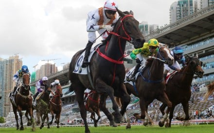 Joao Moreira guides Courier Wonder to victory in the Group Three Sha Tin Vase in May. Photos: Kenneth Chan