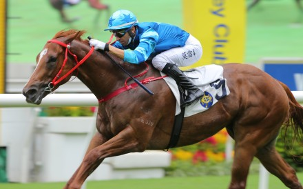 Joao Moreira pilots Master Eight to victory in June. Photos: Kenneth Chan