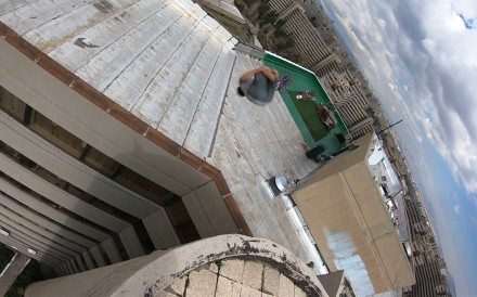 27-year-old Iranian parkour practitioner Alireza Japalaghy performs acrobatic stunts between some of the tallest buildings in the Iranian capital Tehran.