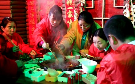 Residents in China's Chongqing were filmed eating hotpot in an ice cavern during a heatwave last month. People in their winter coats sat around the tables and enjoyed the 'coolest' summer.