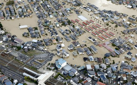 Rescue efforts are underway in Japan after Typhoon Hagibis made landfall on the main island of Honshu on October 12, 2019, bringing torrential rain that triggered landslides and caused rivers to...