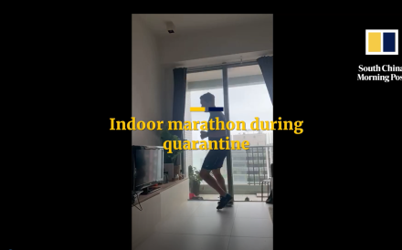 Peter Cooper run 5,250 laps of his small flat to complete an indoor marathon while quarantined