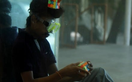 Illayaram Sekar from India has set a Guinness World Record for solving the most Rubik's cubes underwater. It only took him two minutes and 17 seconds to solve six cubes.