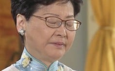 Carrie Lam interviewed by TVB news. Photo: TVB News