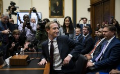 Facebook chief executive Mark Zuckerberg waits for a House Financial Services Committee hearing to start in Washington on October 23. Photo: Bloomberg