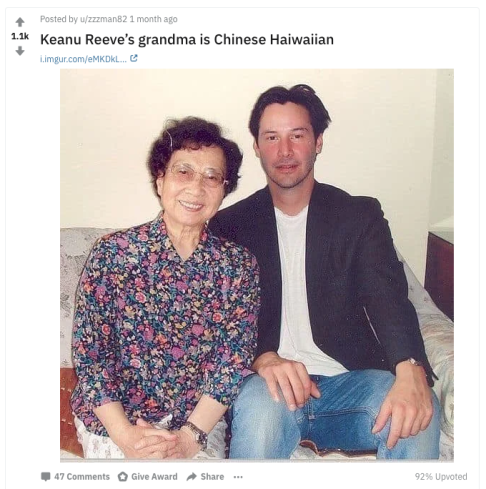 The truth about Keanu Reeves and his Asian roots - Inkstone
