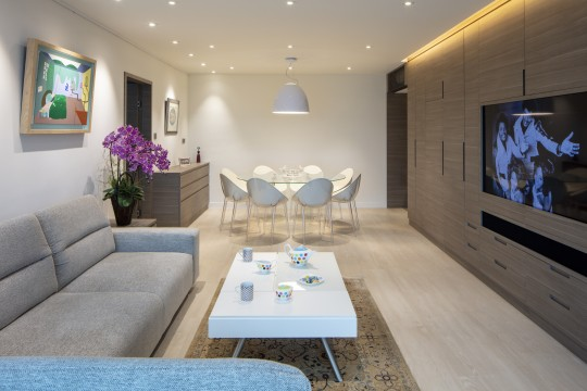 Clean Contemporary Interiors Give A Flat An Overdue Update