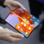 Huawei's Mate X foldable 5G phone as seen during the Mobile World Congress in Barcelona on February 25. (Picture: Stefan Wermuth/Bloomberg)
