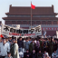 Activists gathered at Tiananmen Square on May 14th, 1989, after an overnight hunger strike. The seven-week protests ended in a military crackdown on June 4th. (Picture: Catherine Henriette/AFP)