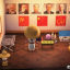 A player put up portraits of Karl Marx, Friedrich Engels, Mao Zedong, Jiang Zemin, Vladimir Lenin and Joseph Stalin in his house. These types of portraits used to be more common in China. (Picture: Feichenpan/Weibo)