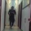 One of Cheng Yanchun 12,500 laps, as he runs 100km indoors to avoid the coronavirus. Photo: Weibo