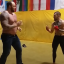 Game of Thrones actor and new world deadlift record-holder Hafthor Bjornsson and former UFC double champion Conor McGregor bare-knuckle sparring in 2015. Photo: YouTube/The Mac Life