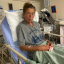 Courtney Dauwalter in hospital after her Colorado Trail FKT attempt. Photo: @courtneydauwalter/Instagram