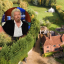 Richard Branson and Tanyards Farm, the English manor he grew up in which is now up for sale. Photo: United Kingdom Sotheby's International Realty, @richardbranson/Instagram