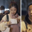Stills from a Purcotton video ad showing a woman who was pursued by a masked man wiping off her make-up to scare him off.