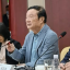 Huawei founder and chief executive, Ren Zhengfei (middle), speaks at an event in Taiyuan on February 9, 2021. Photo: Celia Chen