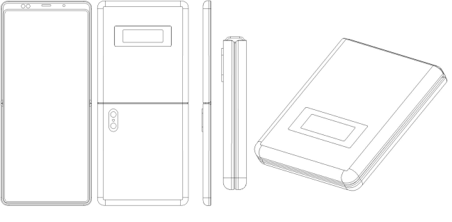 Xiaomi patent shows a foldable phone similar to the Motorola Razr