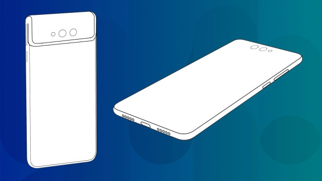 Xiaomi foldable phone patent shows front cameras that bend to the back
