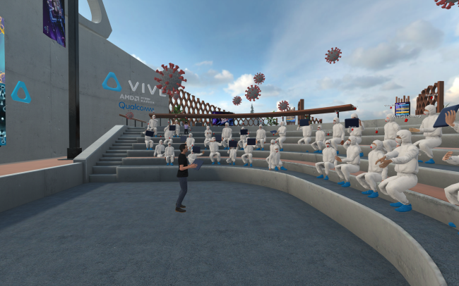HTC holds conference in virtual reality amid coronavirus pandemic