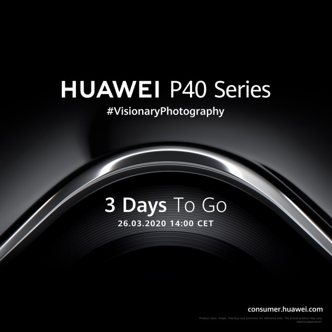 Huawei to launch P40 on March 26 in online event
