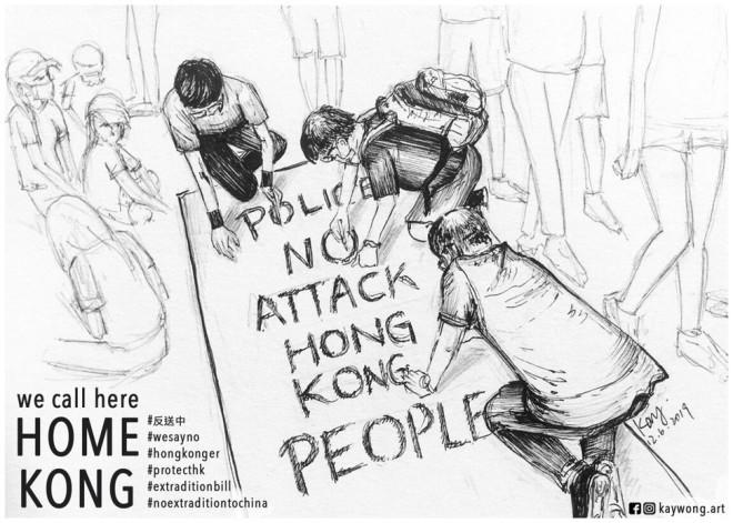 The art of Hong Kong protests
