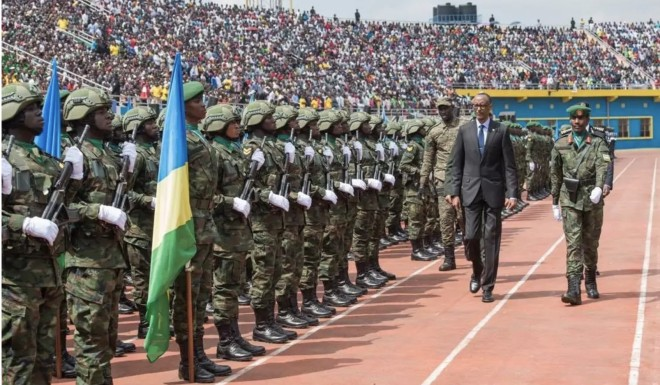 Rwandan troops trained by China mark genocide anniversary