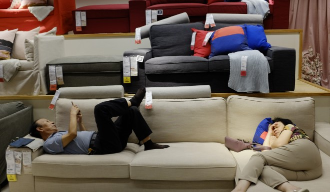 Chinese shoppers love napping at Ikea  Ikea says that's fine