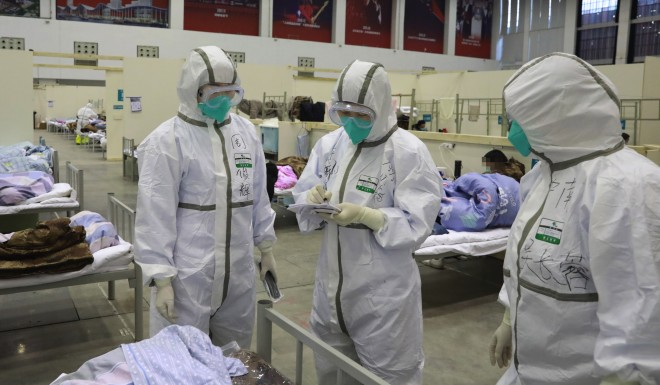 Wuhan has converted several stadiums into temporary hospitals to house coronavirus patients.
