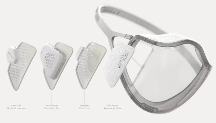 Amazfit is creating a face mask that self-disinfects with UV light