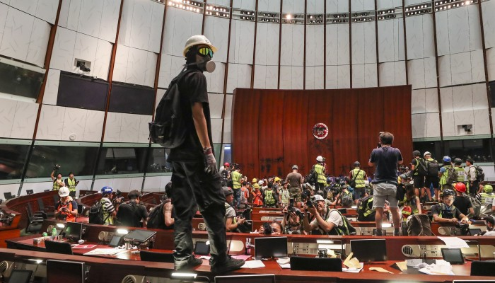 3cd13663bfbc Angry Hong Kong leader Carrie Lam emerges after day of unprecedented ...