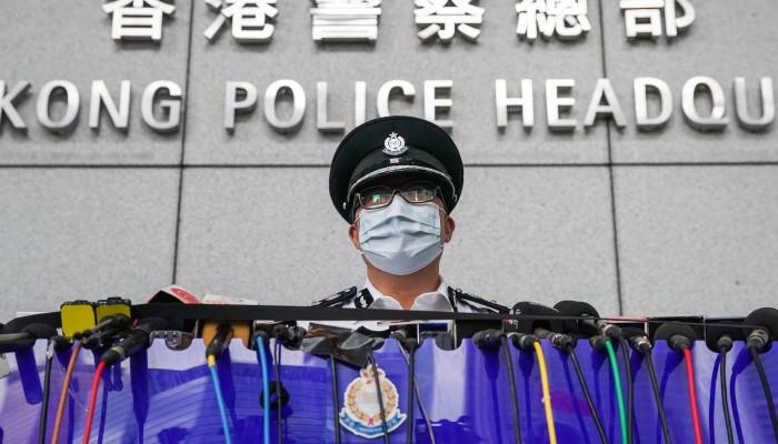 La Police de Hong Kong soie non Pli Tie