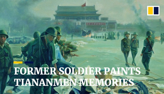 Former soldier paints Tiananmen memories