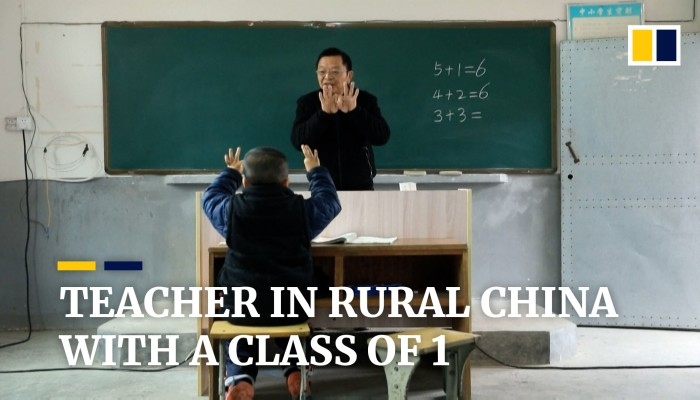 Primary Schoolteacher In Rural China Remains Loyal To His One Last Underprivileged Pupil South China Morning Post