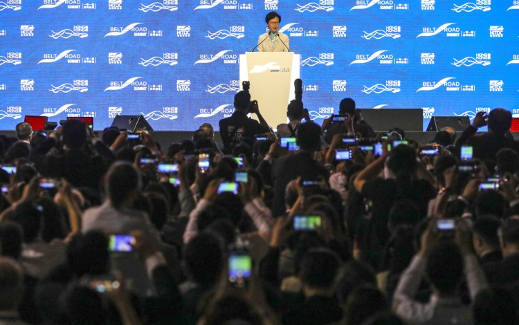 Carrie Lam Denies Reports Of Talks With State Firms On Buying Up Hong Kong
