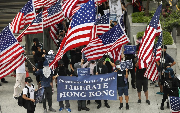 Foreign affairs committees in the US Senate and House of Representatives have approved an initial draft of the Hong Kong democracy bill. Photo: Kyodo
