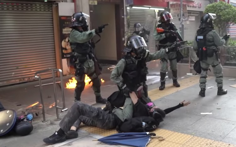 China's state media has defended the shooting of an 18-year-old schoolboy during the protests in Hong Kong. Photo: Campus TV, HKUSU