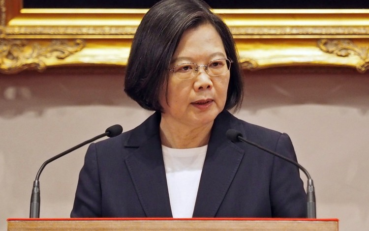 Taiwan's President Tsai Ing-wen expressed regret to learn a Hong Kong student was shot during National Day protests on Tuesday. Photo: EPA-EFE