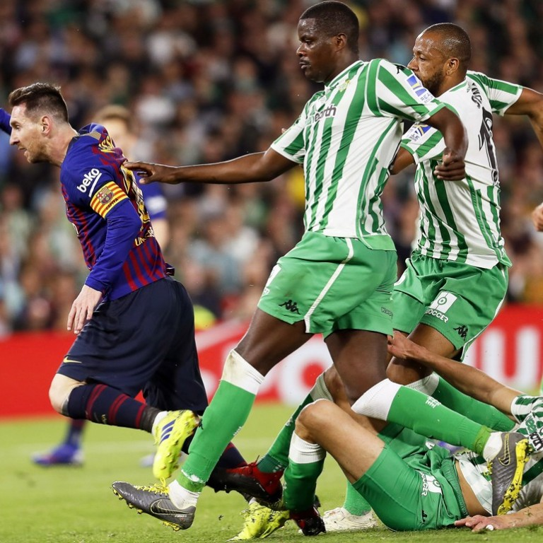 192c60eb107 Betis fans bow to  extraordinary  Lionel Messi after sublime hat-trick  performance