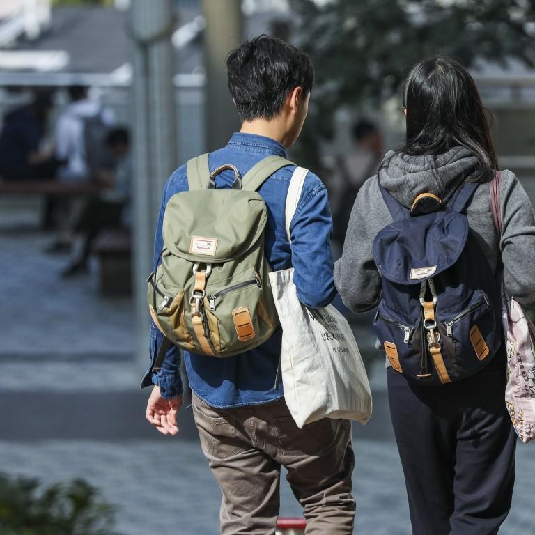 Students at the University of Hong Kong campus in Pok Fu Lam. Photo: Nora Tam