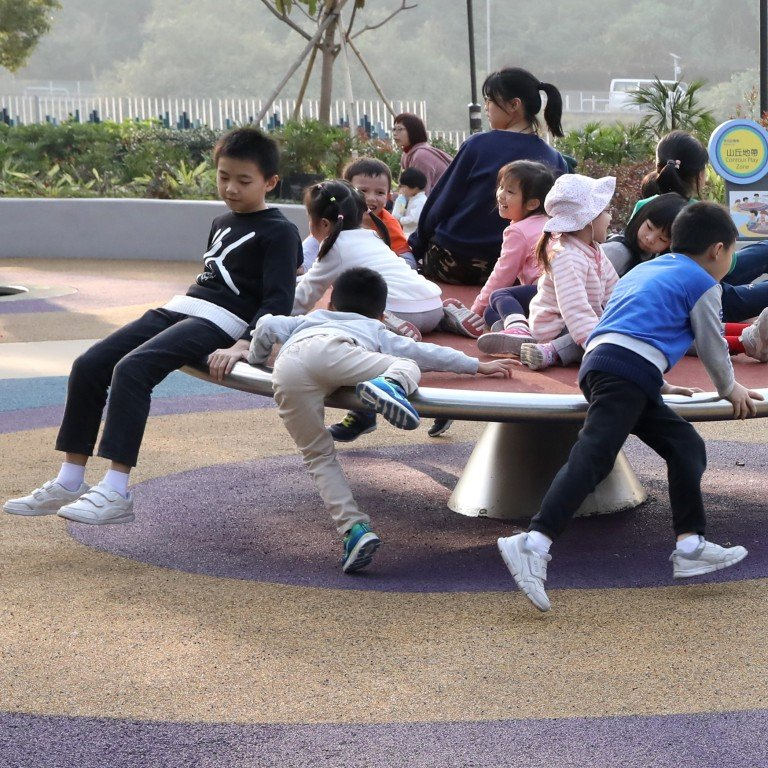 2b9004bc1c90 Children play at Hong Kong s first barrier-free government playground in  Tuen Mun Park.
