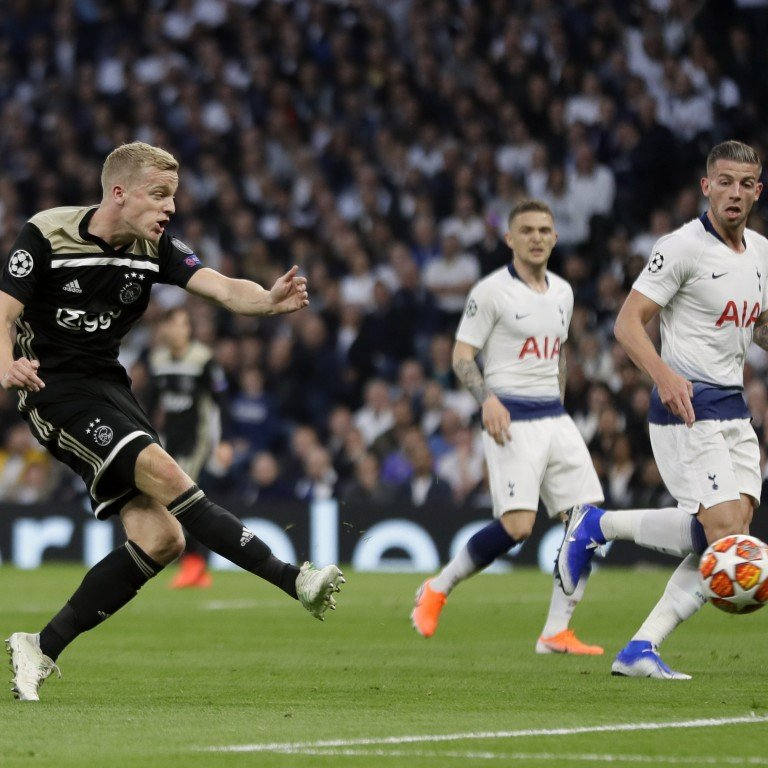 a0b5a13da97 Ajax s Donny van de Beek scores Ajax s opening goal during the Champions  League semi-final