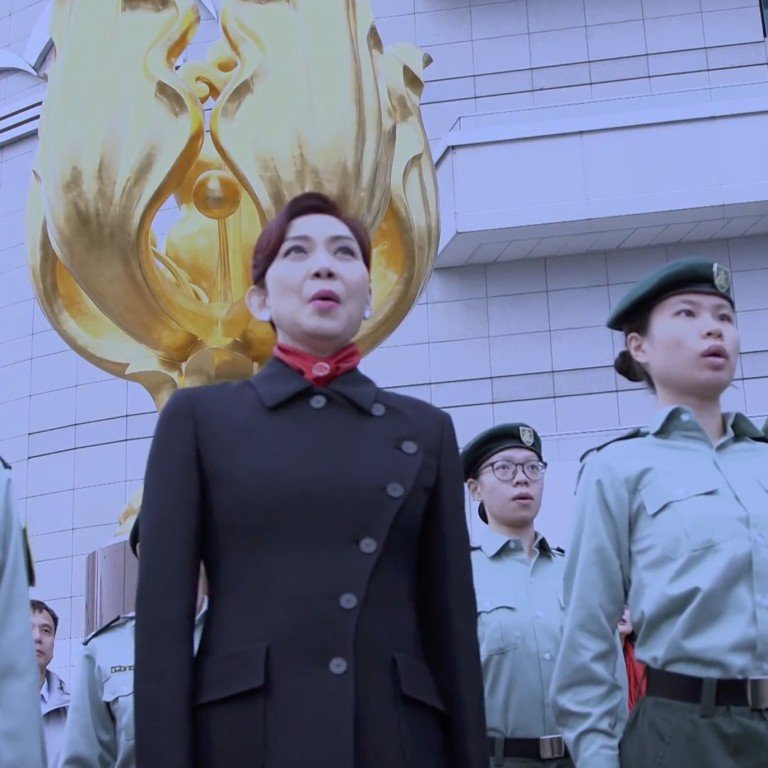 Hong Kong elites and celebrities come together in patriotic anthem