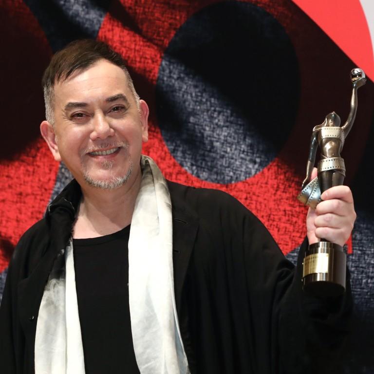 a8cd66a4b3b23 Anthony Wong celebrates winning the Best Actor award at the 38th Hong Kong  Film Awards 2019