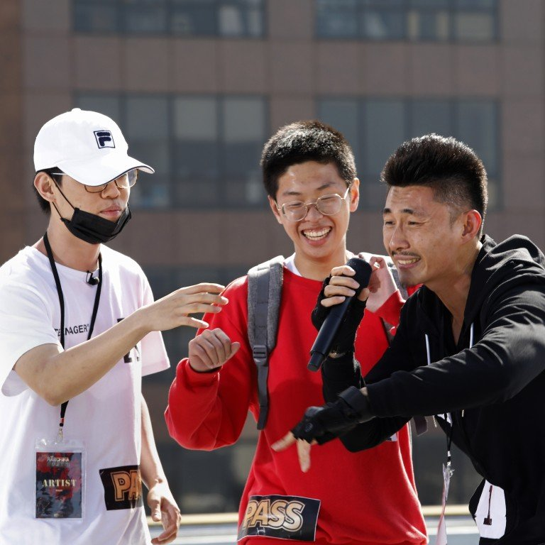 69d4714ed2dd2 An audition for The Rap of China in Los Angeles. The show helped elevate rap