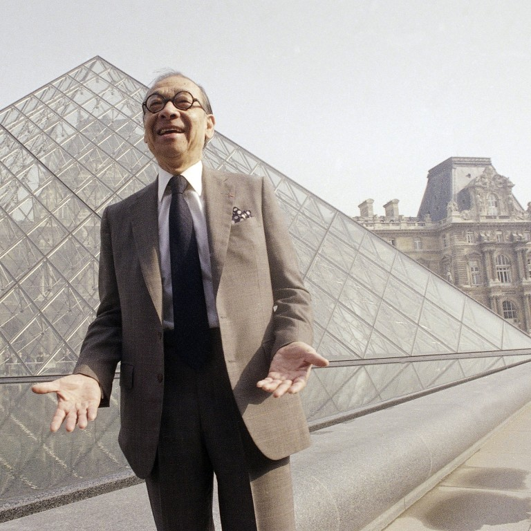847b4d04f Chinese-American architect Ieoh Ming Pei, who has died aged 102, pictured in