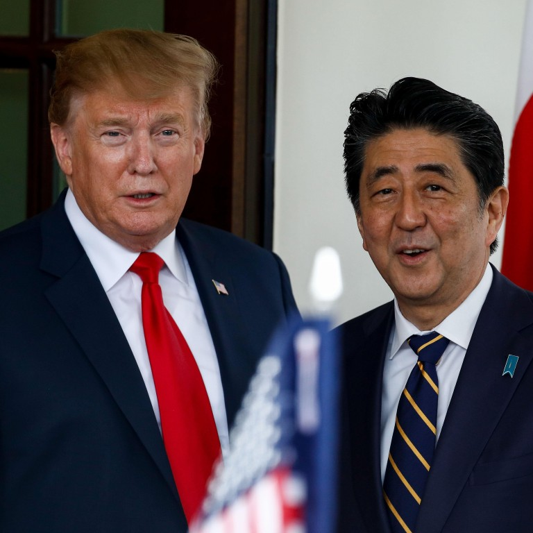 8994b931a3ab7 US President Donald Trump and Japanese Prime Minister Shinzo Abe. Photo:  Xinhua